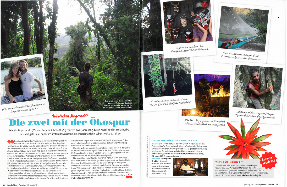 Wir sind im Lonely Planet Magazin